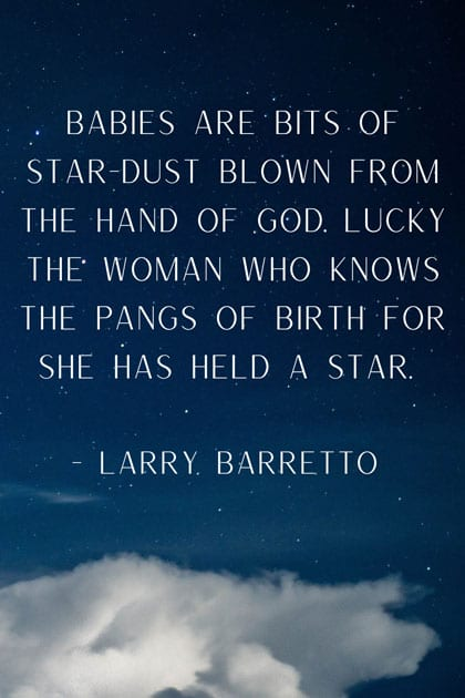 quote on how babies come from stardust