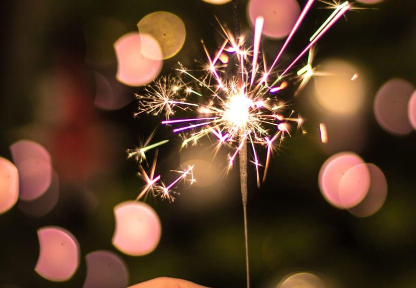 sparkler with pink lights