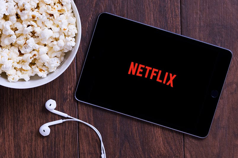 Netflix and popcorn - a fun way to be together