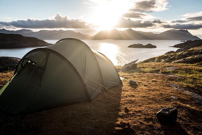 tent on a beach- scene from Gap program