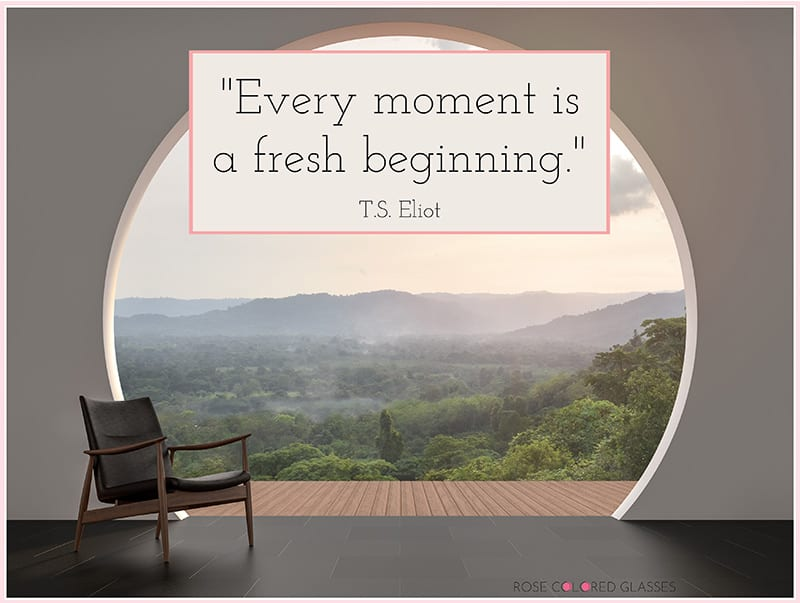 inspirational quote about fresh beginning