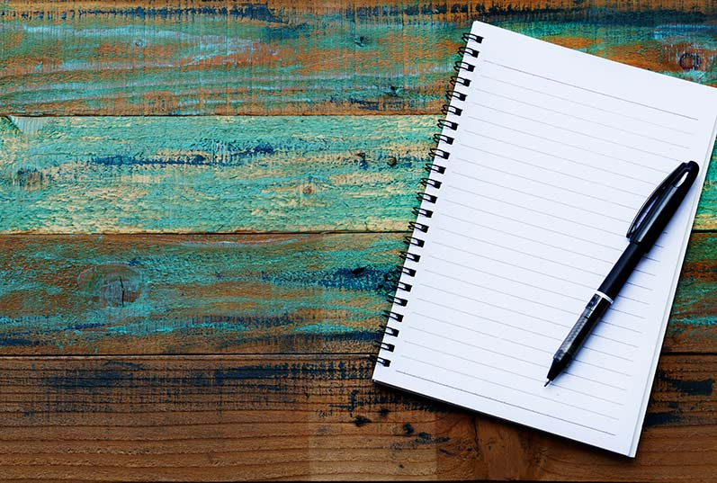 empty journal with pen - ready to write morning pages