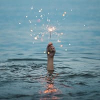 holding onto hope and expecting luck - sparkler