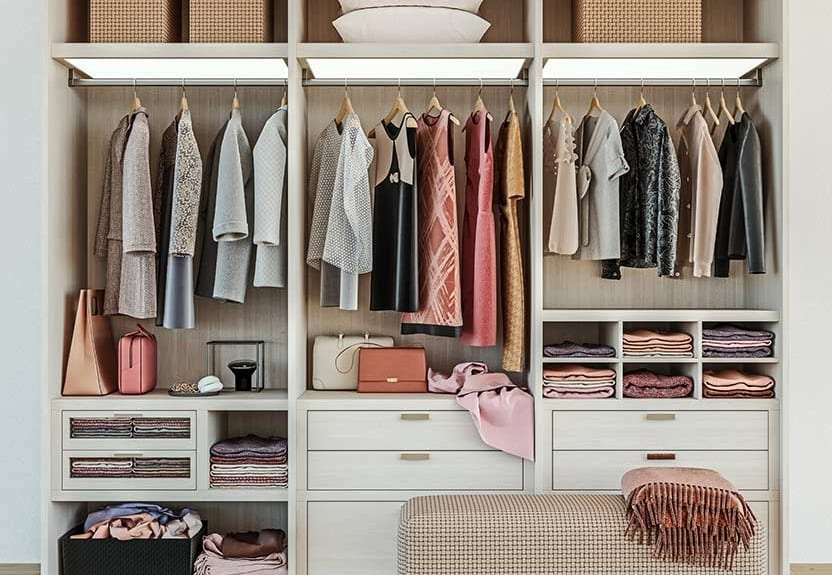 Spring cleaning - organized closet