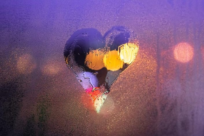 heart on a window for love languages