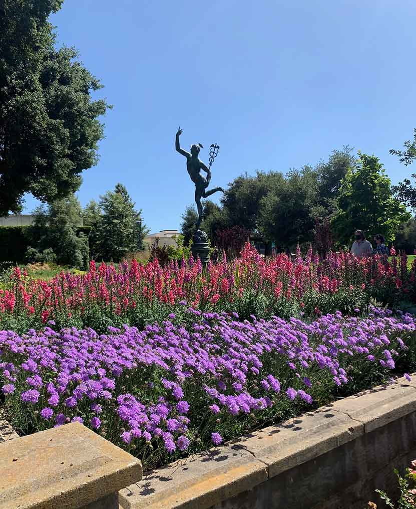 statue tour at Huntington Gardens